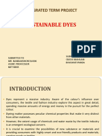 Sustainable Dyes