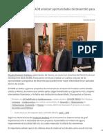 01-04-2019 Claudia Pavlovich y NADB Analizan Oportunidades de Desarrollo Para Sonora - LNN