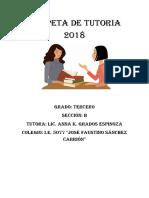 Carpeta de Tutoria 2018