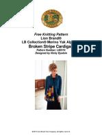 Broken Stripe Cardigan (Knit)