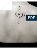 Tatuagem Clave de Sol