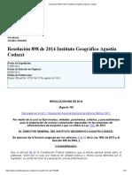 Resolución 898 de 2014 Instituto Geográfico Agustín Codazzi