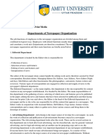 11.Departments of Newspaper Organisation