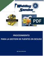 PROCEDIMIENTO DE FUENTES EN DESUSO