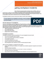 Tips for Investigating Workplace Incidents
