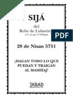 Sijá de La Noche Del 28 de Nisan