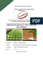 Proyecto de Investigacion Ver Crecer Mi Comida- Dora