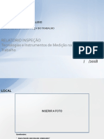Modelo de Relatório de Inspeção
