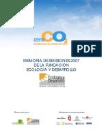 Memoria de Emisiones 2007 de La Fundación Ecología y Desarrollo