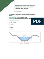 Diseño de Canal Trapezoidal