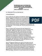 d.s.172-2011 Medidas Fortalecimiento Osce