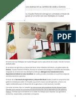 20-03-2019 Secretaría de Agricultura avanza en su cambio de sede a Sonora - El Economista