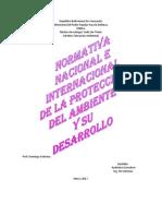 Normativa Nacional e Internacional de La Protección Del Ambiente y Su Desarrollo