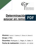 Determinación de Azúcar en Remolacha