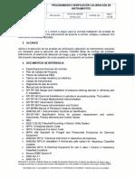 PRO-GM-045 PROCEDIMIENTO VERIFICACION CALIBRACION DE INSTRUMENTOS.pdf