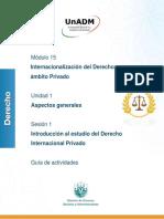 Guia de actividades Derecho UNADM modulo 15 sesión 1
