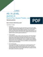 2. GCE Music AoS BCD Handout