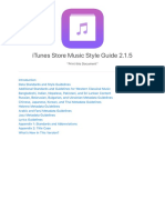 iTunes Store Music Style Guide
