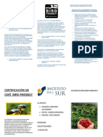 Triptico de La Certifcación bird friendly