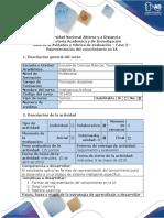 Guia de Actividades y Rubrica de Evaluacion - Fase 3 - Representación Del Conocimiento en IA