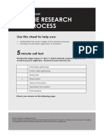 Help Sheet-The Research Process