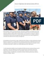 09-05-2019 Participan 300 elementos en Operativo de Semana Santa 2019 en Peñasco - Kiosco Mayor