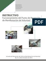 CNE Instructivo de Funcionamiento Del Punto de Recepción y Manifestación de Voluntad Por El 20% RR Oct 2016