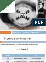 11.4 Los Rayos X - Técnicas de Difracción