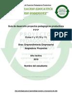 Guía de Desarrollo Proyectos Pedagógicos Productivos Ciclo V