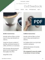 Brew Instructions — CoffeeSock