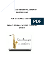 A historia e o desenvolvimento do saxofone
