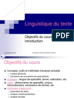 Intro Linguistique Du Texte