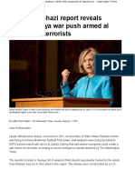Hillary Clinton's Libya war push armed Benghazi rebels with suspected al Qaeda ties