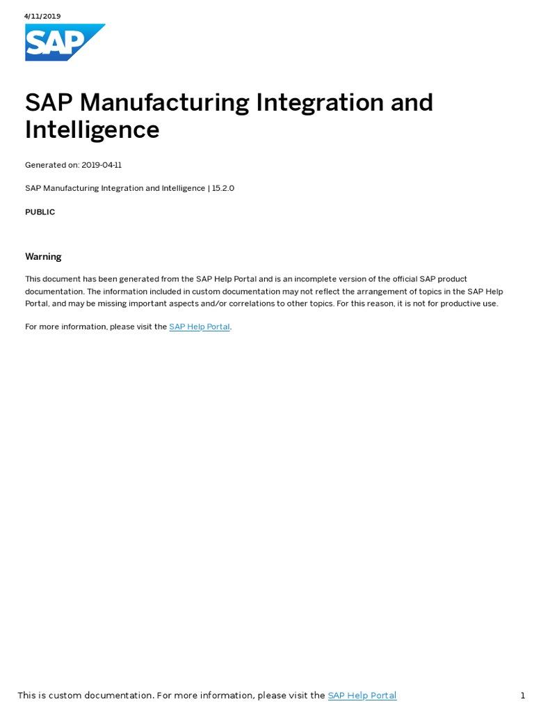 SAP MII HELP 1 pdf | Database Transaction | Thread (Computing)