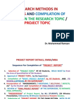 Project Format, Emba Etc