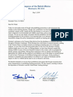 Daines Gianforte Letter on Hunting Practices