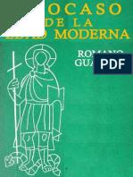 Guardini - El Ocaso de La Edad Moderna