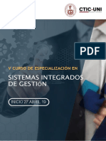 5CDE en Sistemas Integrados de Gestin CTICUNI 27ABRIL19