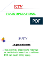 Safety in Train Operation