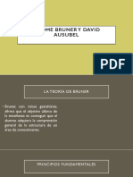 Jerome Bruner y David Ausubel