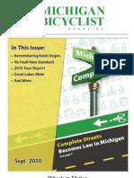 Michigan Bicyclist Magazine _ September 2010