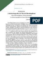 A Historiografia de David Birmingham