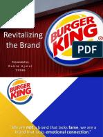 Revitalizing the Brand - Burger King