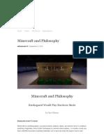 Kierkegaard e Minecraft