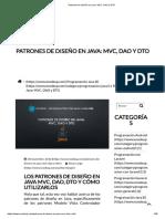 Patrones de diseño en Java_ MVC, DAO y DTO.pdf