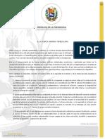 Presidencia encargada de Venezuela a la Fuerza Armada