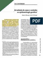 Aplicaciones Del Método de Casos y Controles en Epidemiología Genética