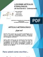 Artículos metodológicos