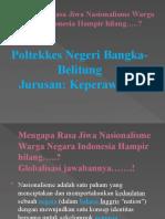 Mengapa Rasa Jiwa Nasionalisme Warga Negara Indonesia Hampir