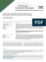 La Ambivalencia Filosófica en El México Independiente y Su Influencia en La Educación y La Enseñanza de La Psicología